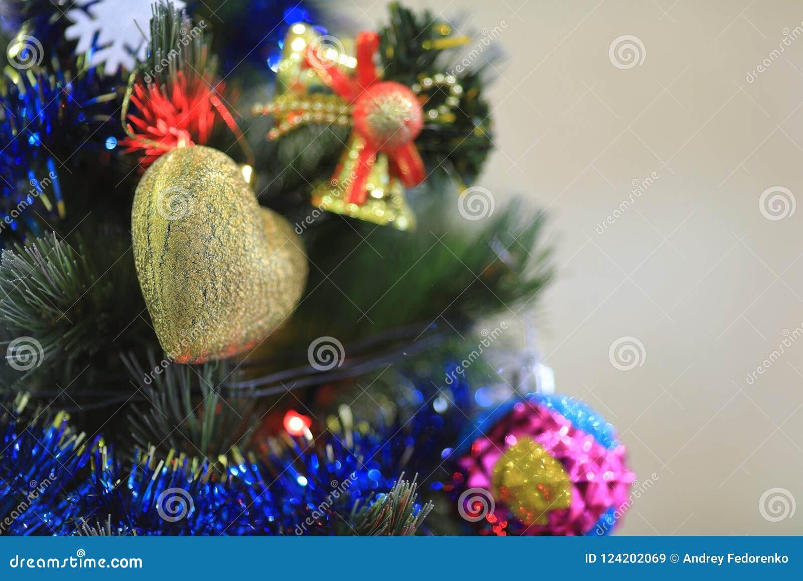 Christmas Tree Decorations Balls Hearts Tinsel Garland Hanging