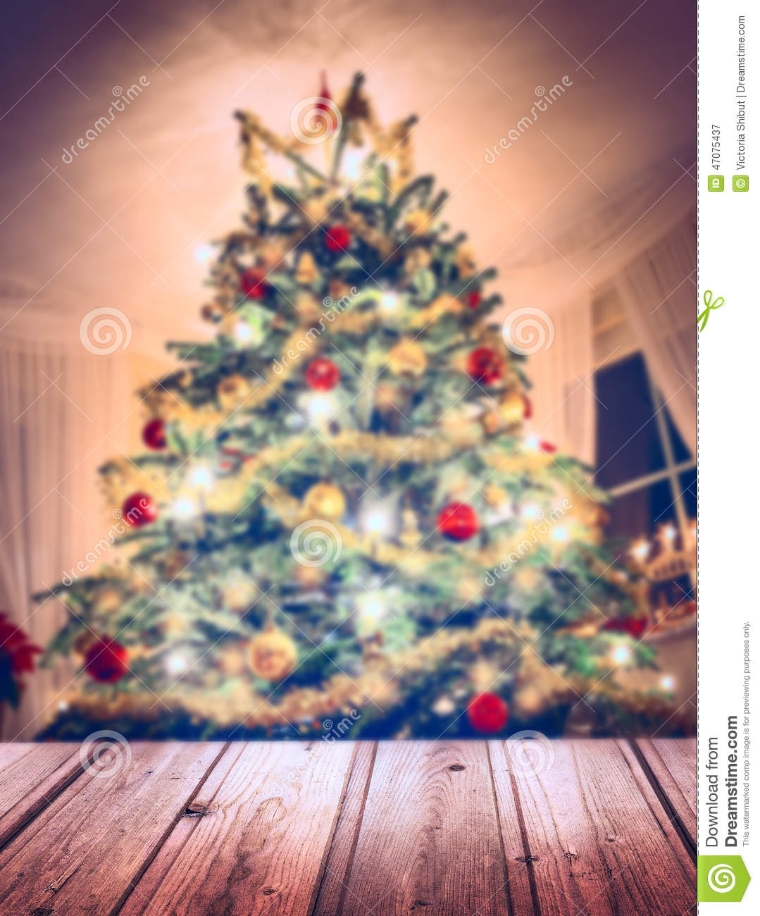 Christmas tree with decorations and candles