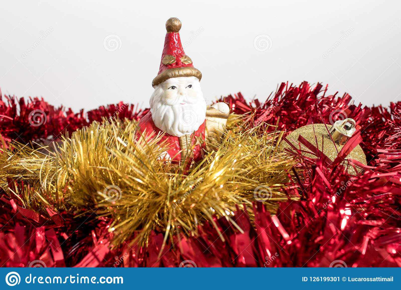 download christmas tree decorations colorated balls and santa claus isol stock image image of - Santa Claus Christmas Tree Decorating Ideas