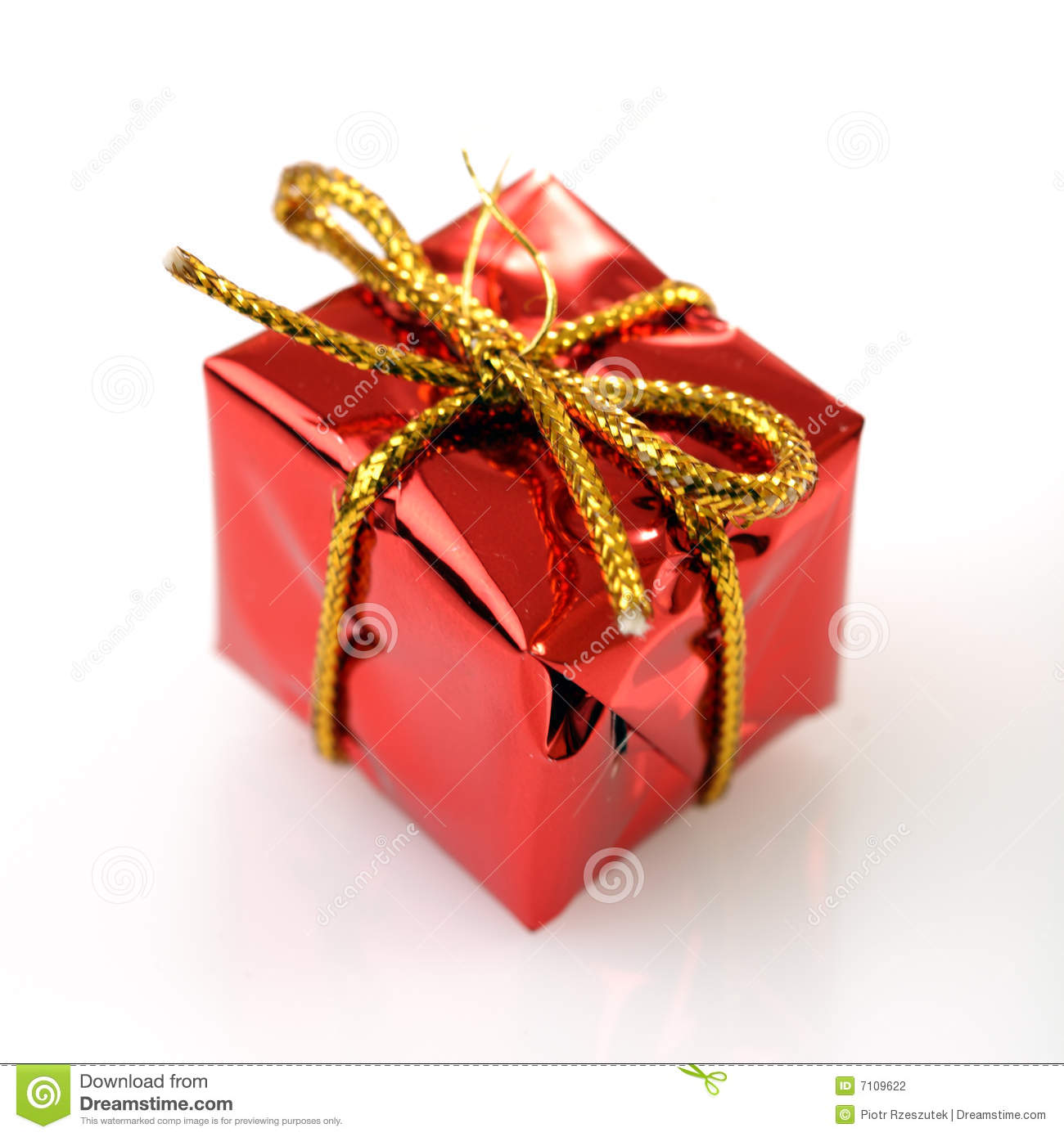Christmas Tree Decorations Gift Box Stock Photo Image 7109622