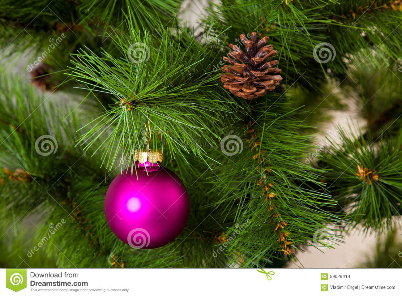 Christmas Tree Decorations 2016 Happy New Year Stock