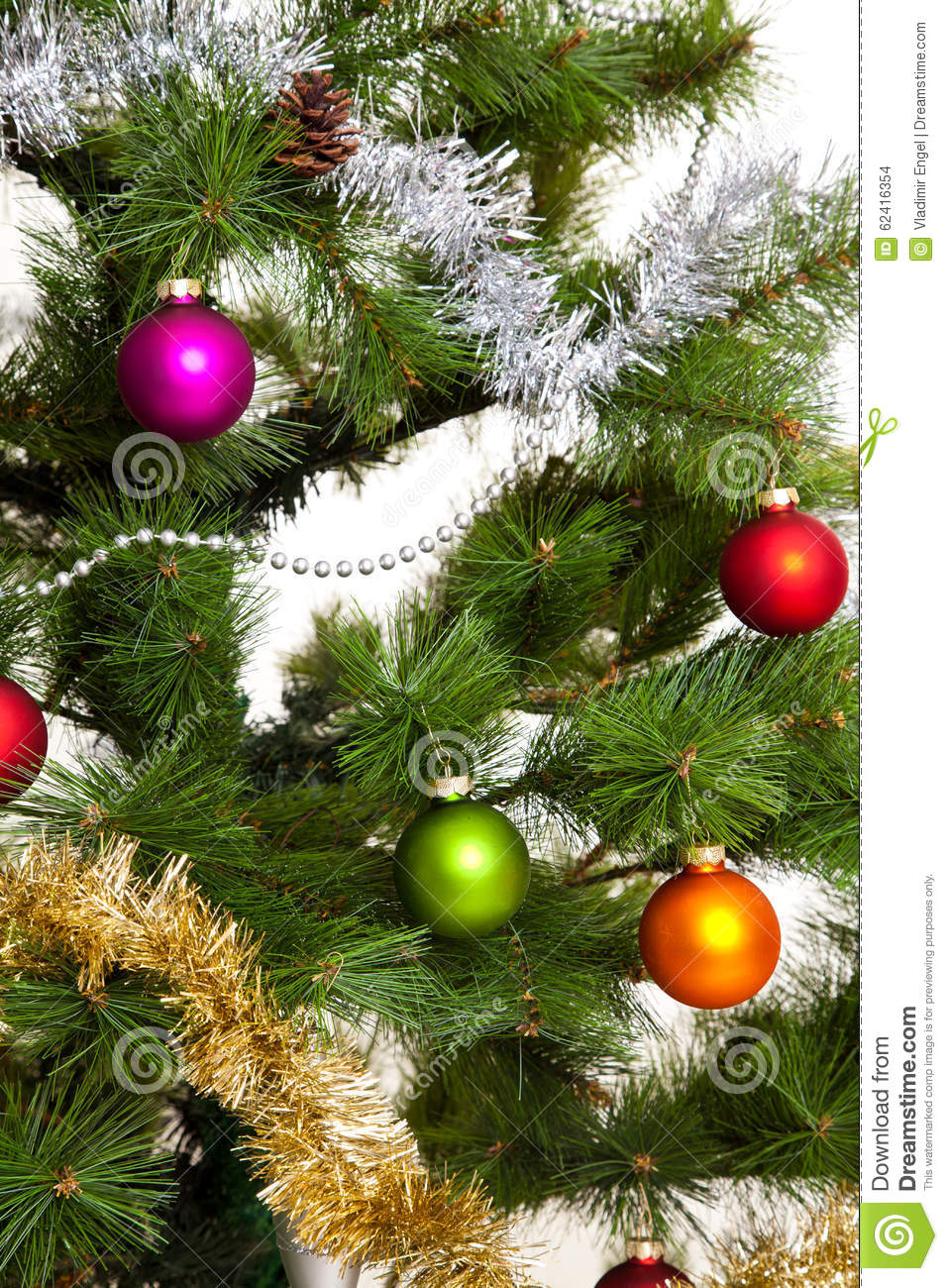 Christmas Tree Decorations Happy New Year