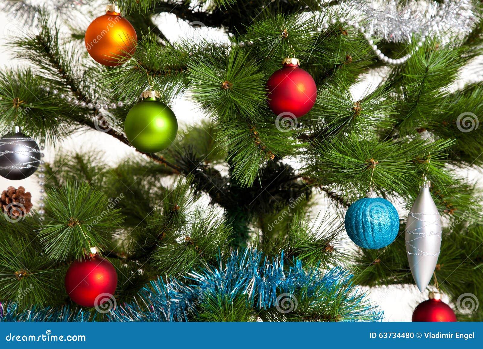 Christmas tree decorations happy new year stock photo for New xmas decorations