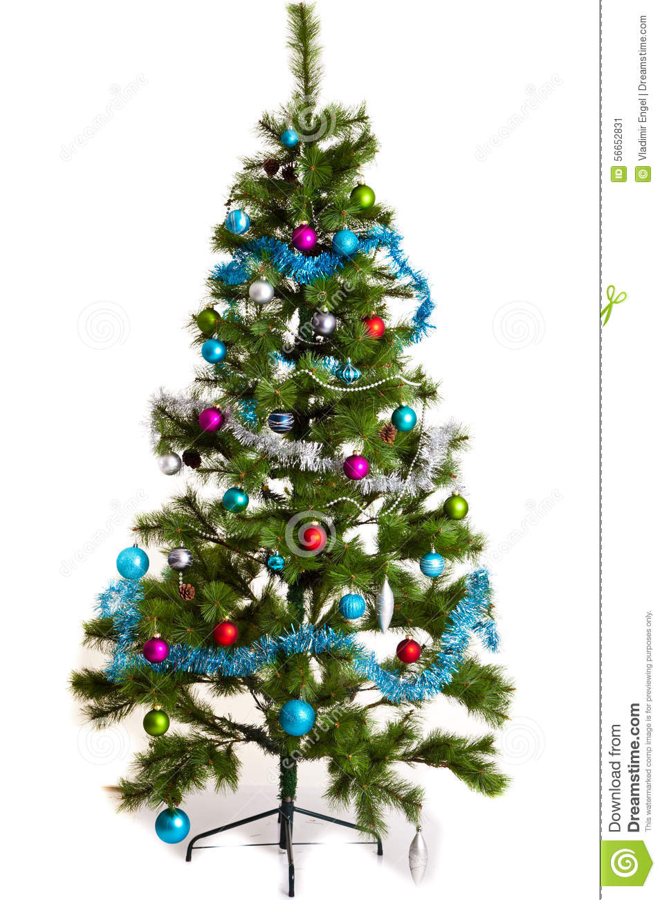 Christmas tree decorations 2016 new year stock image for Christmas decorations 2016