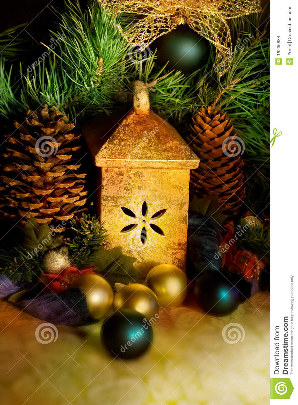 Christmas tree decorations still life stock images