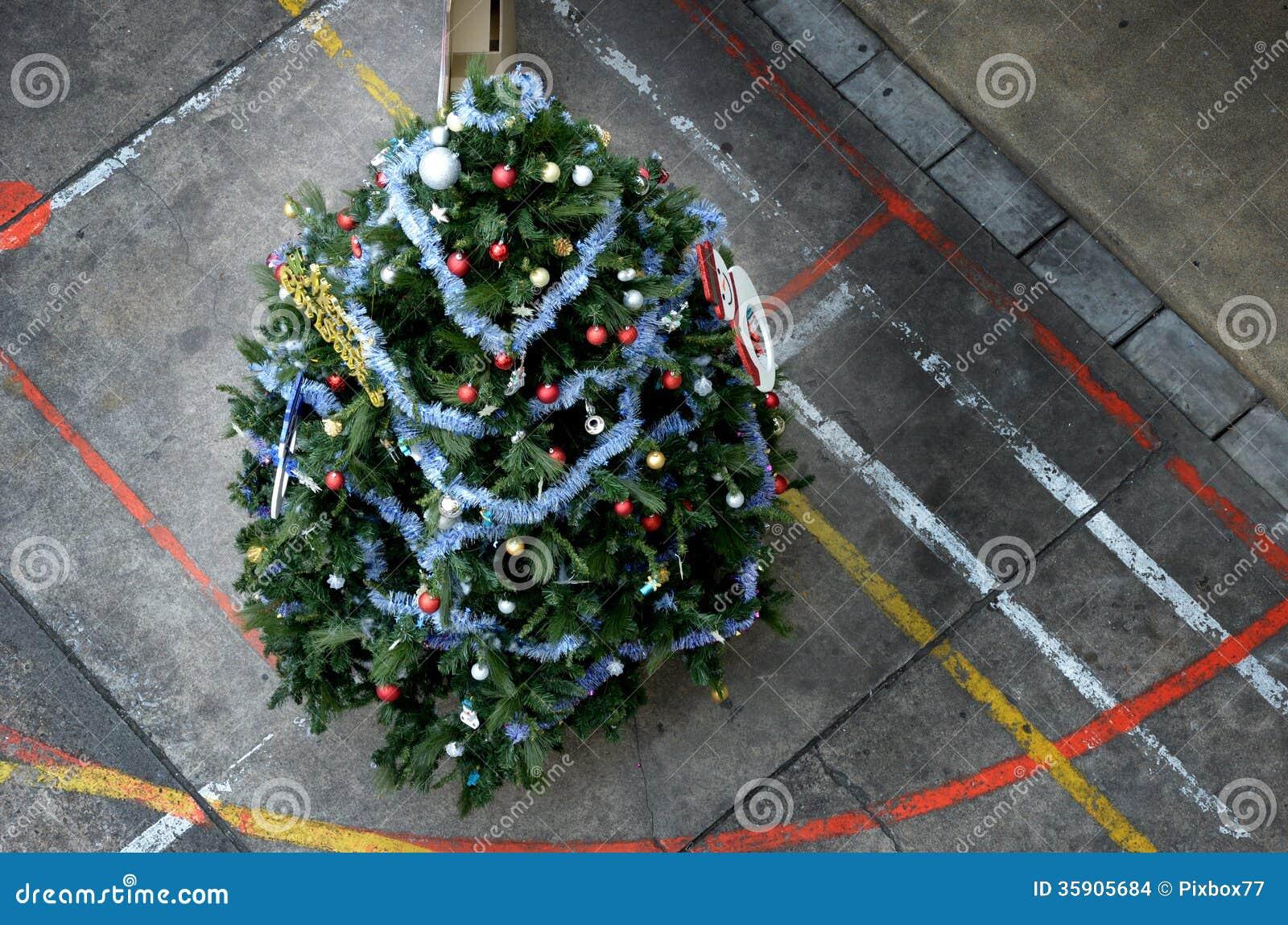 Christmas Tree Top View.Christmas Tree Stock Photo Image Of Style Decoration