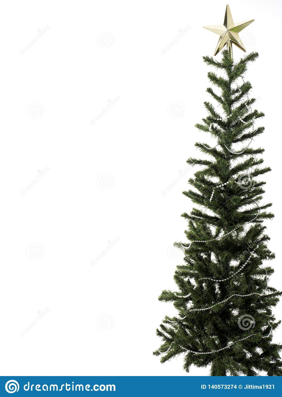 Christmas tree decorations on a white background. close-up