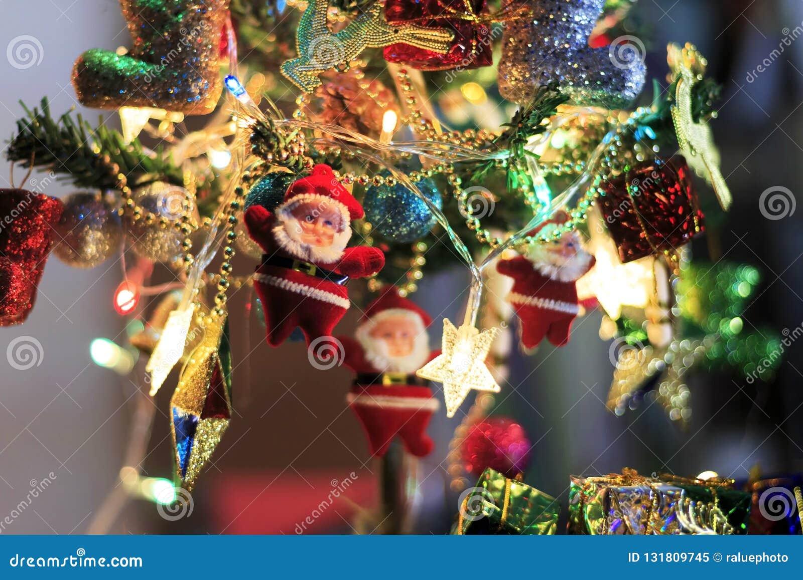 Christmas Tree With Decorative Lighting Stock Image Image Of Design Holiday 131809745