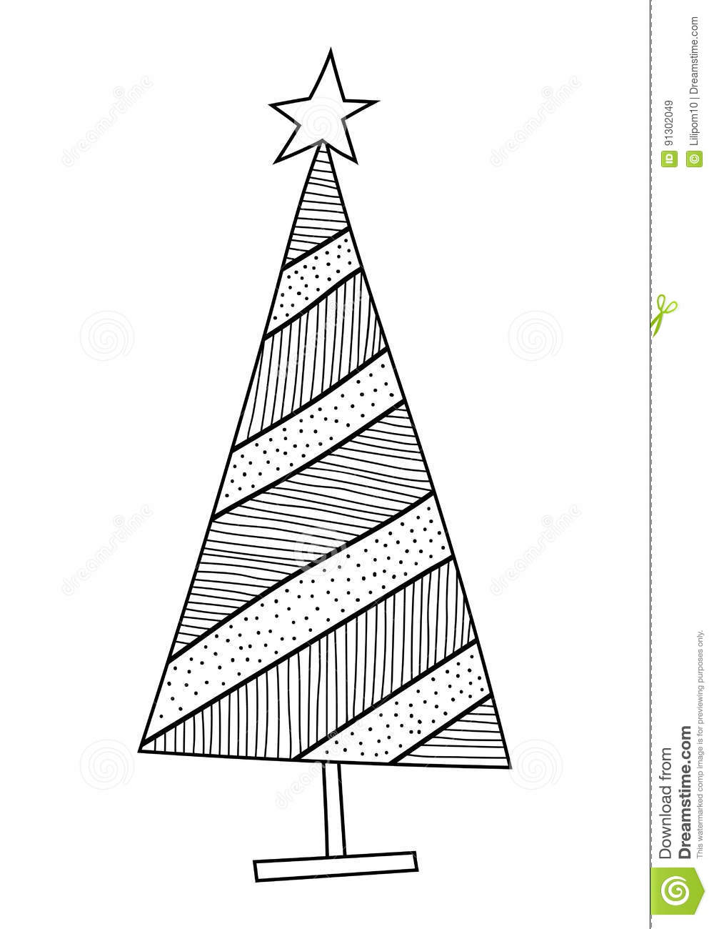 Creative Haven Christmas Trees Coloring Book | Dover Publications ... | 1300x1000