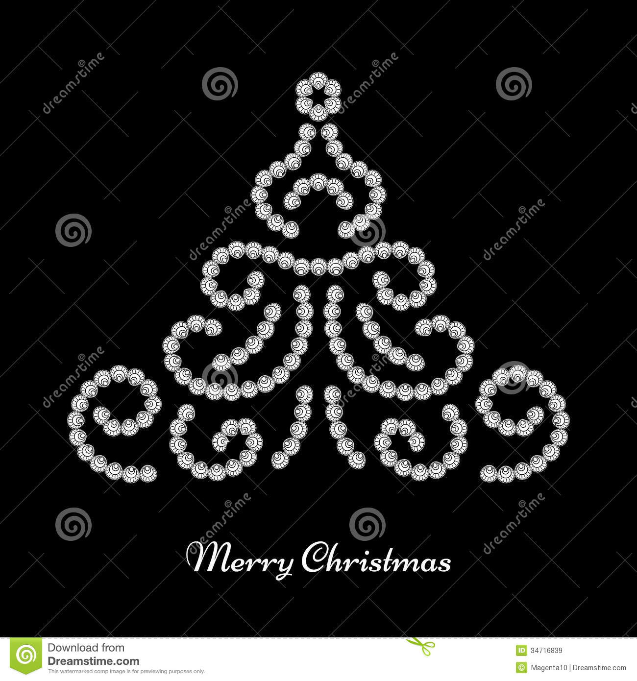 Christmas tree design stock vector. Illustration of isolated - 34716839