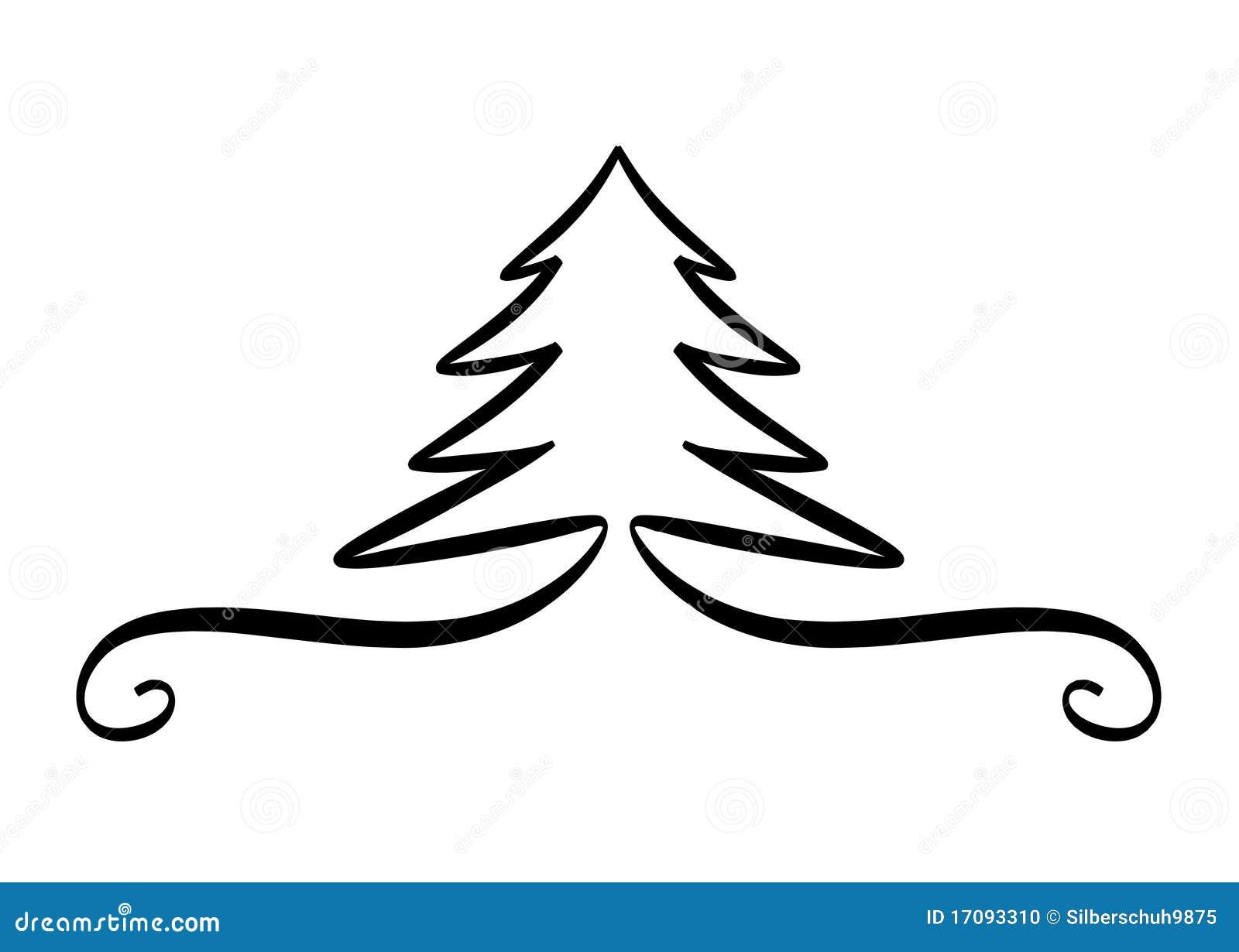 Christmas tree design element stock photo image