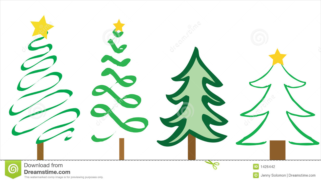 download christmas tree designs stock vector illustration of card 1426442 - Christmas Tree Designs