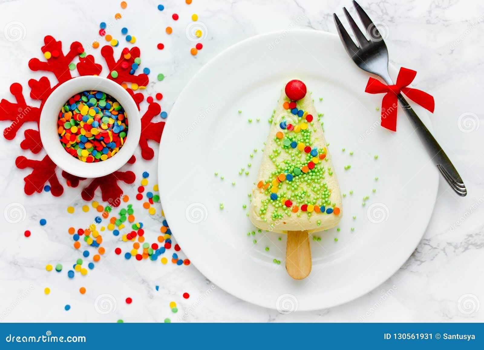 Christmas Tree Cheesecake Stock Image Image Of Celebration 130561931