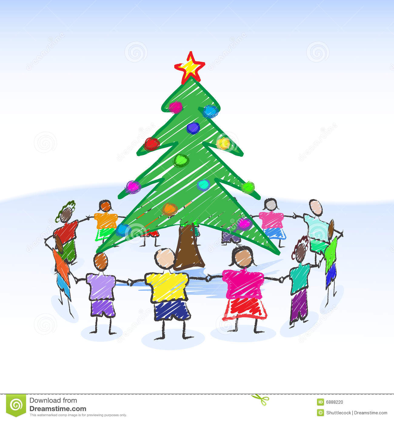 Christmas Tree Drawing Stock Photo - Image: 6888220