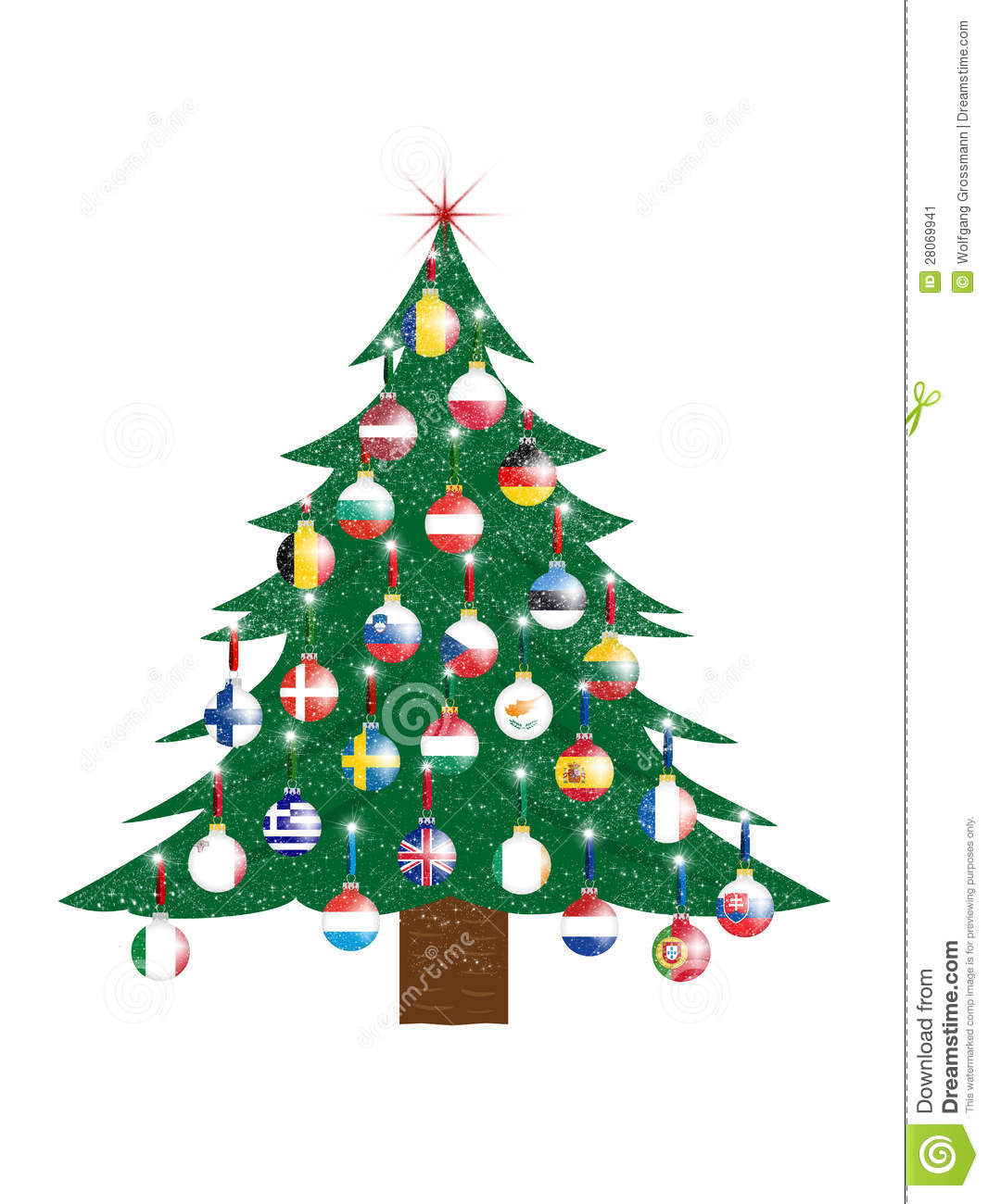 royalty free stock photo download christmas tree european - European Christmas Tree