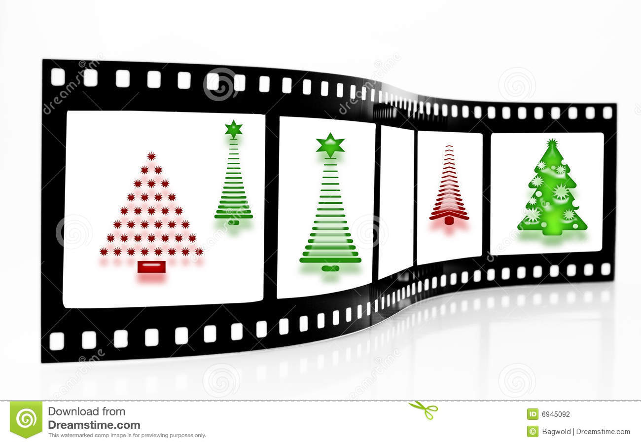 Christmas Tree Film Strip Stock Illustration Illustration Of