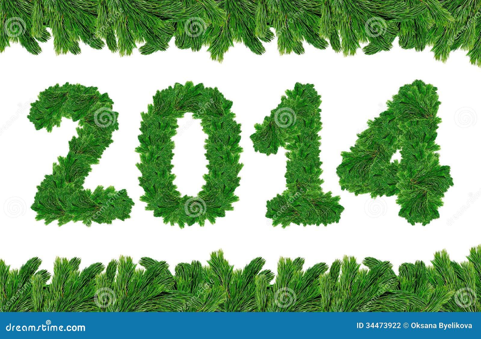 2014, Christmas Tree Font Stock Photography - Image: 34473922