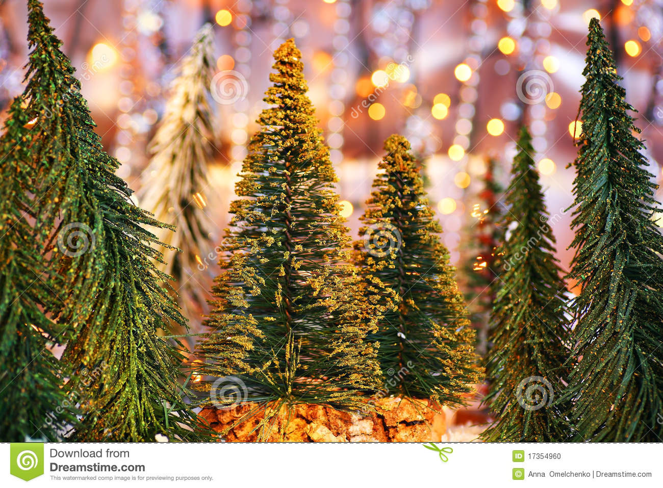 Christmas tree forest stock photo image