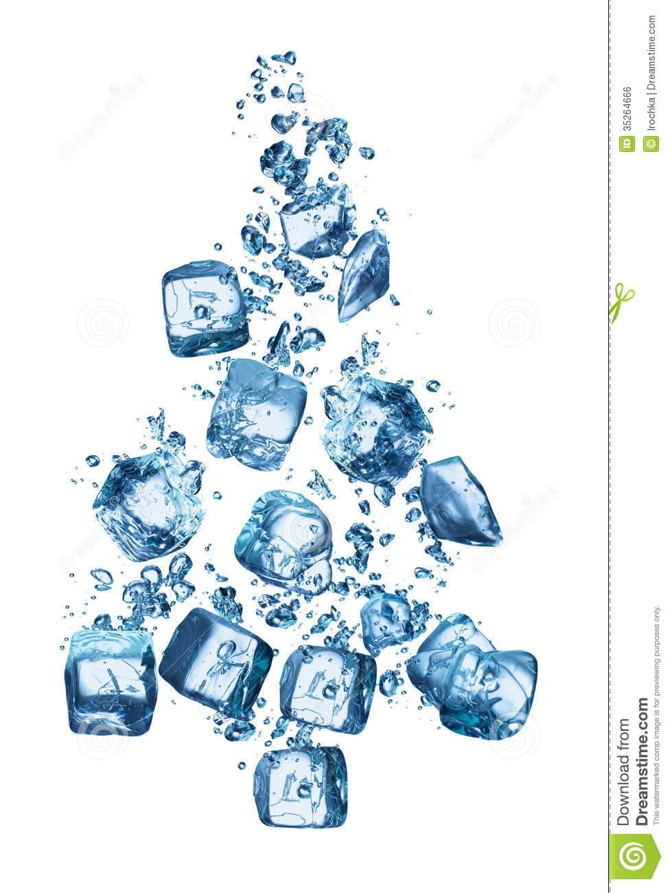 Christmas Tree Forming Ice Cubes Royalty Free Stock Image - Image ...