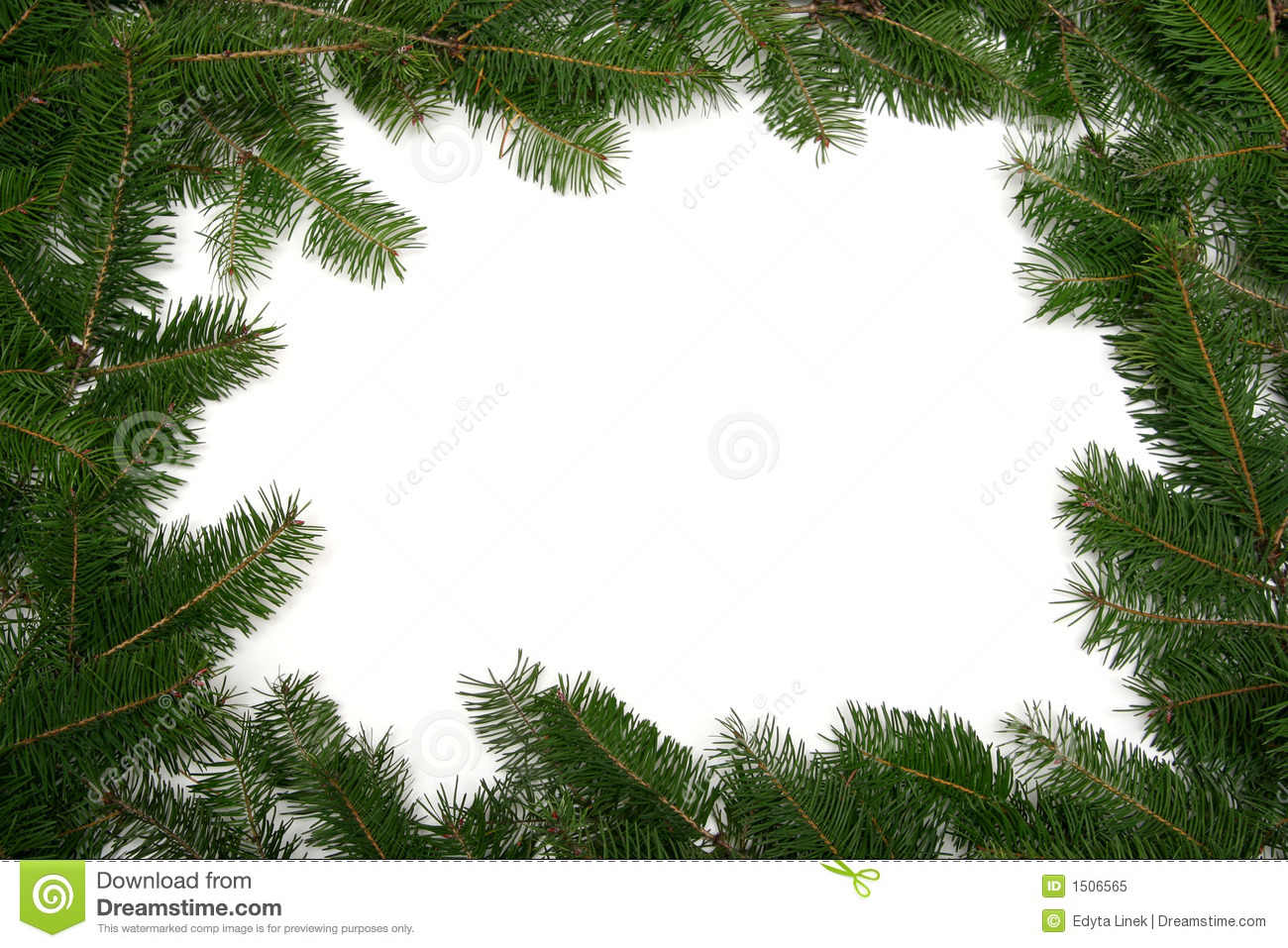 Christmas Tree Frame Royalty Free Stock Photo - Image: 1506565