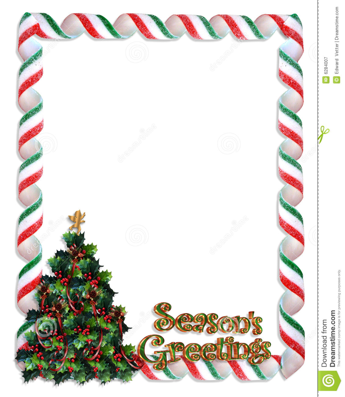 Christmas Tree Frame Border Royalty Free Stock Photography - Image ...