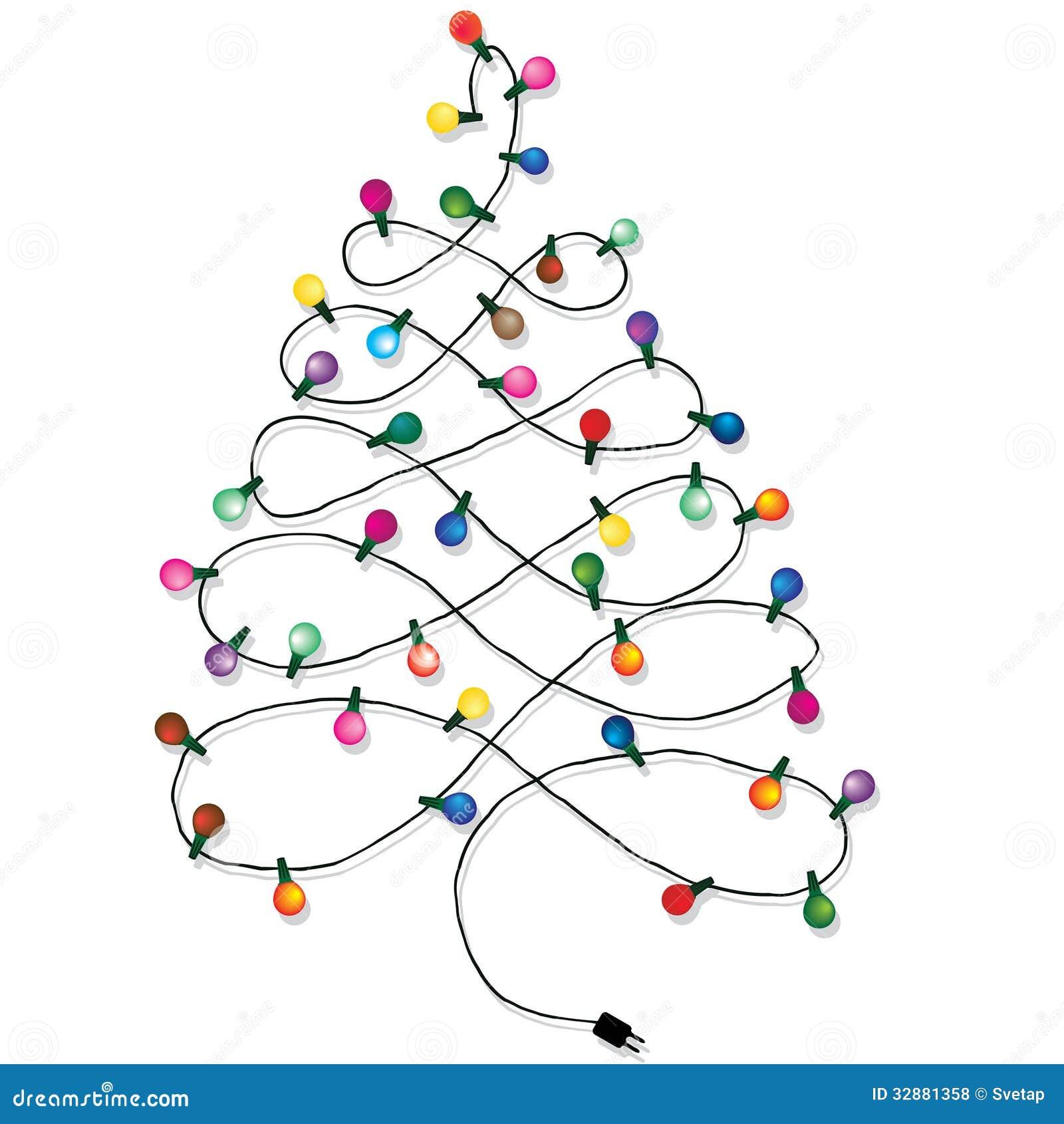Christmas tree garland stock photo. Image of lightbulb ...
