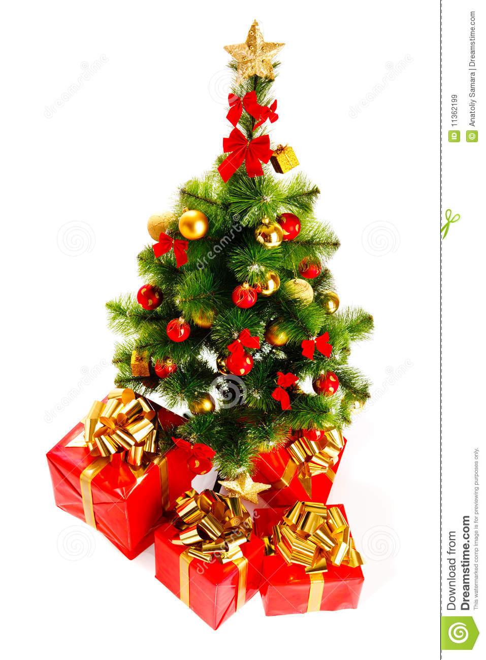 Christmas Tree And Gifts Royalty Free Stock Images Image