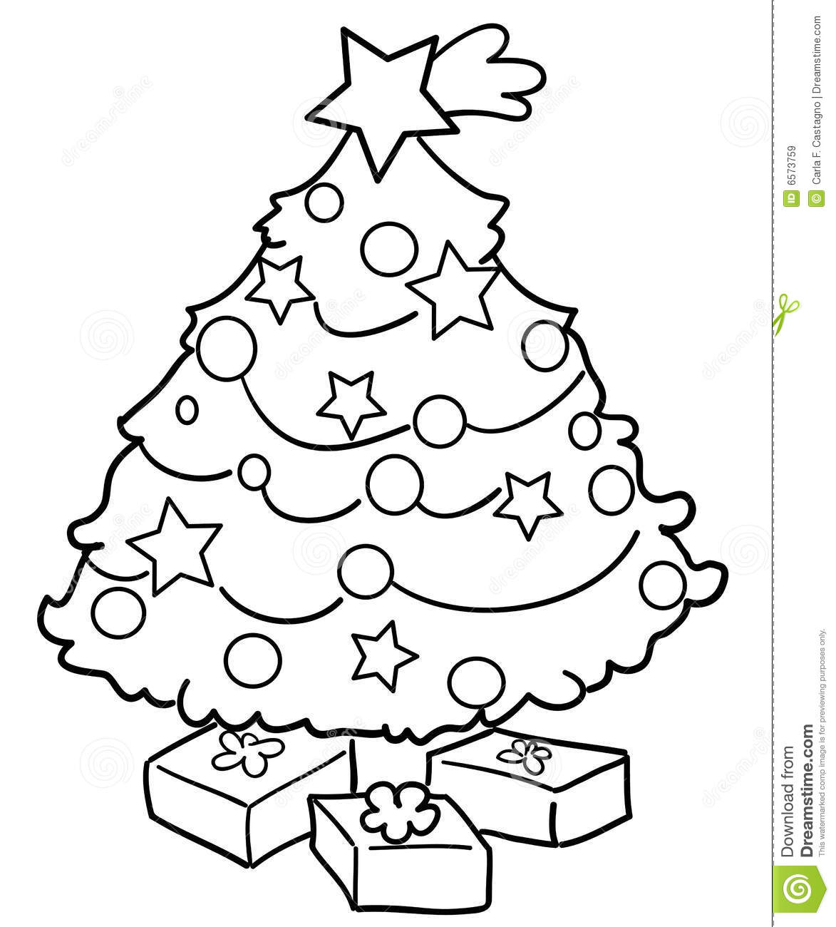 Christmas Tree With Gifts Stock Vector Illustration Of Gift 6573759