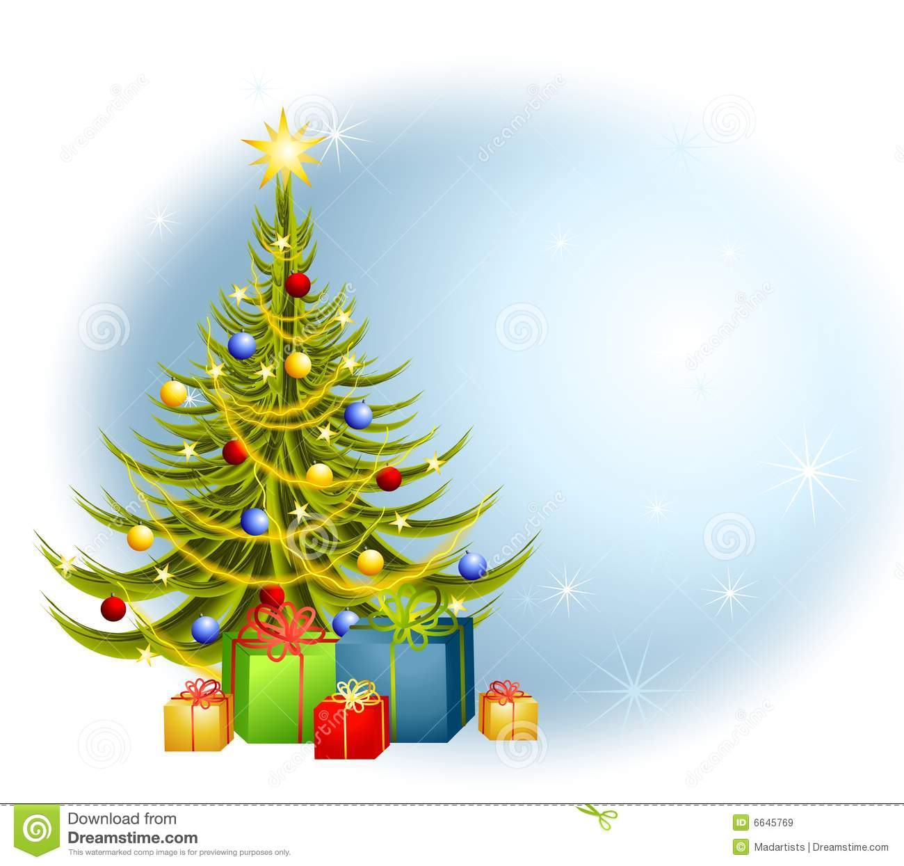 Christmas Tree Gifts Background Royalty Free Stock Images ...
