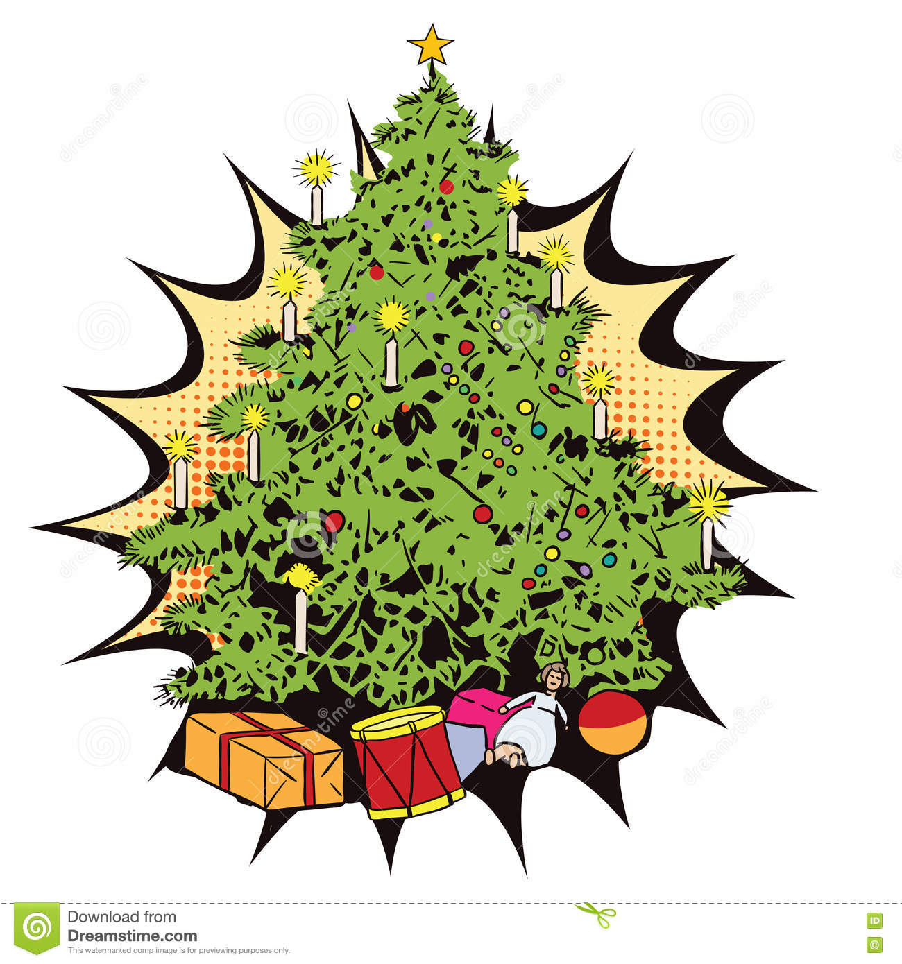 christmas tree with gifts stock vector illustration of christmas