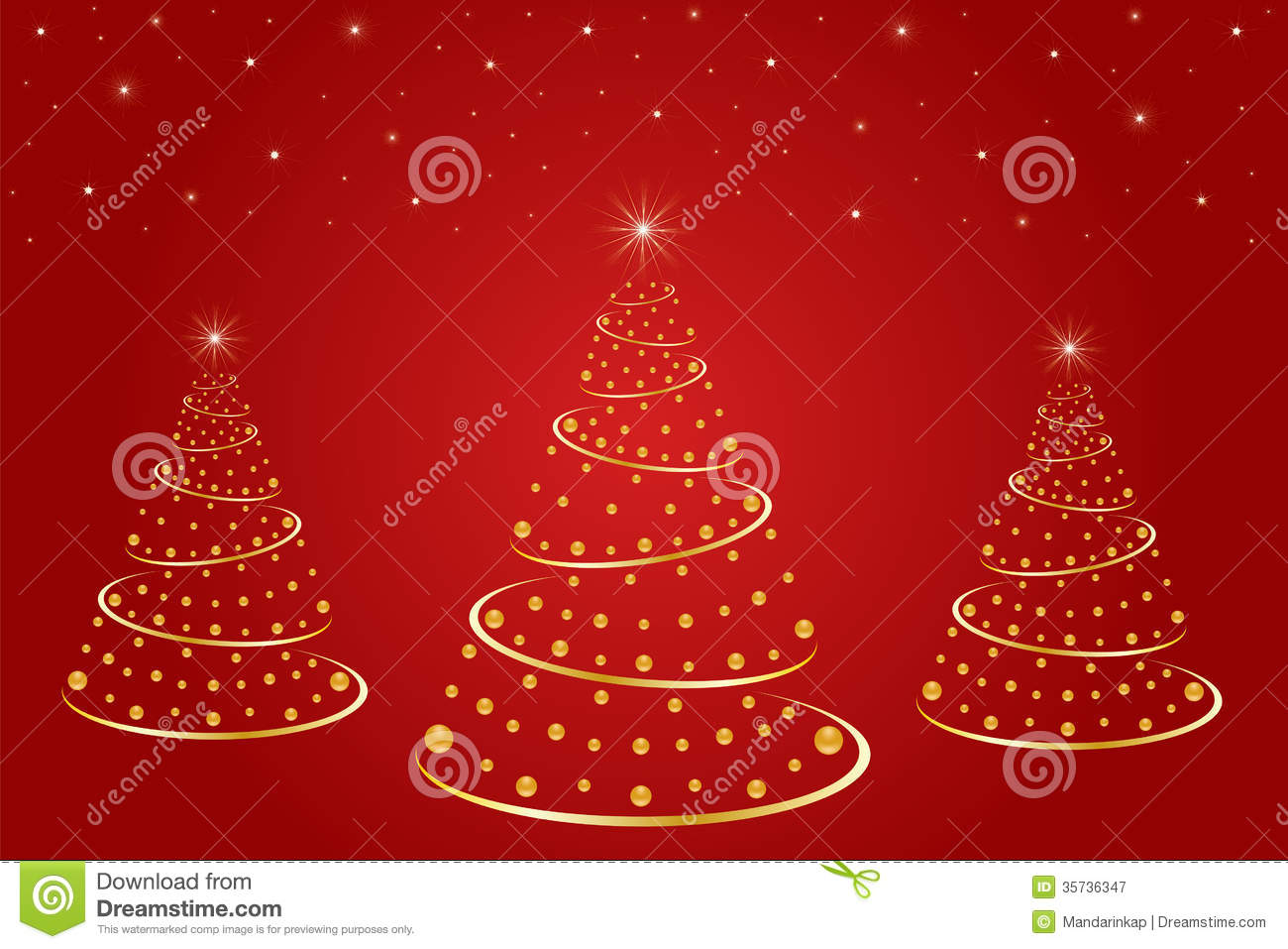Free Illustration Background Christmas Red Gold: Christmas Tree Stock Vector. Illustration Of Holiday