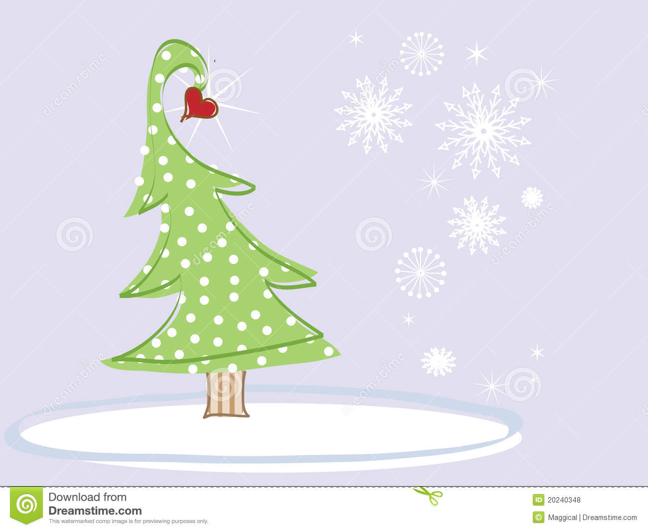 Christmas tree with a heart royalty free stock photos image