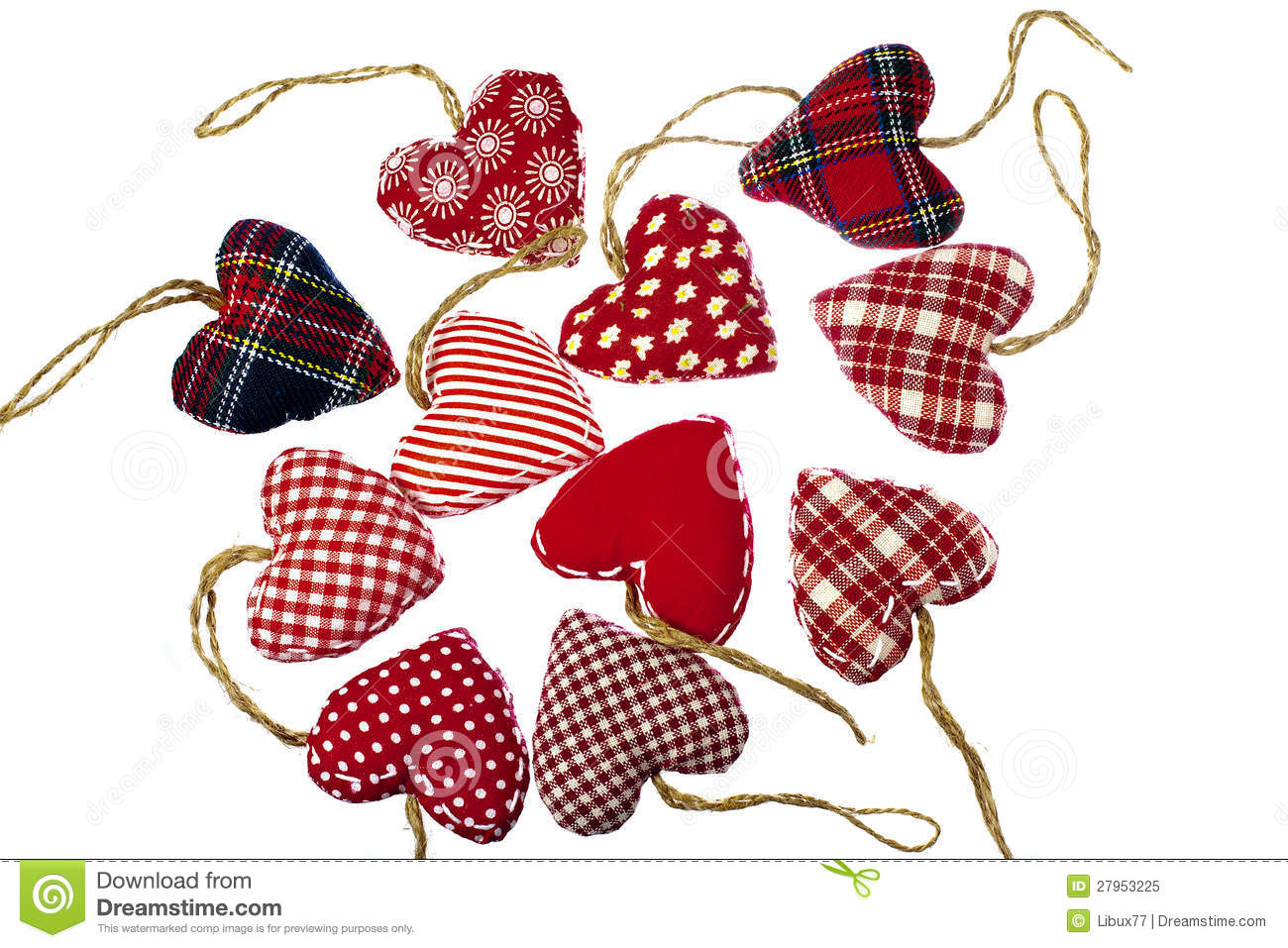 Christmas Tree Hearts Decorations Royalty Free Stock Photo - Image ...