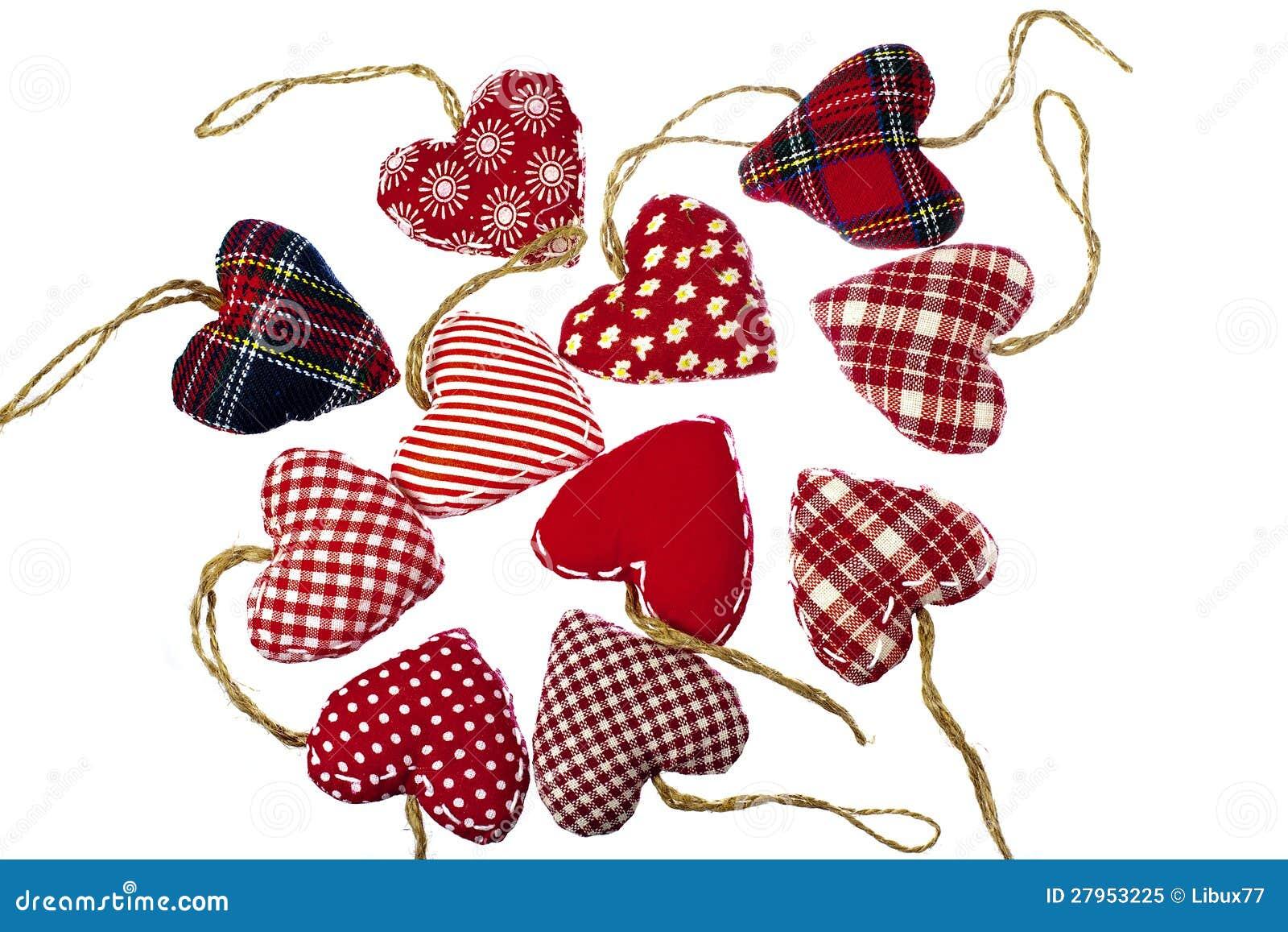 Christmas Tree Hearts Decorations Royalty Free Stock Photo
