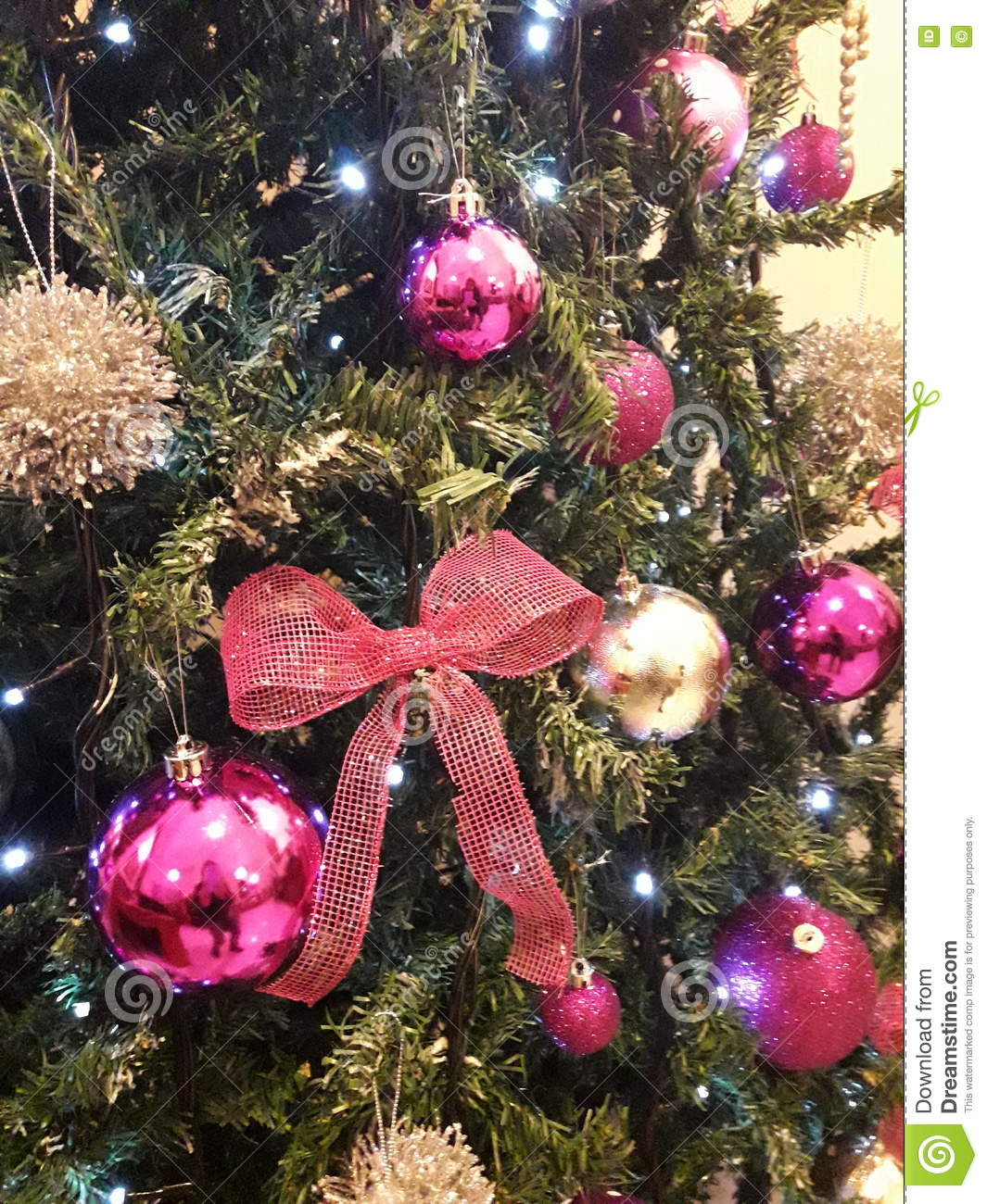 Christmas Tree Holiday Advertising News Pink Silver Happy Creative