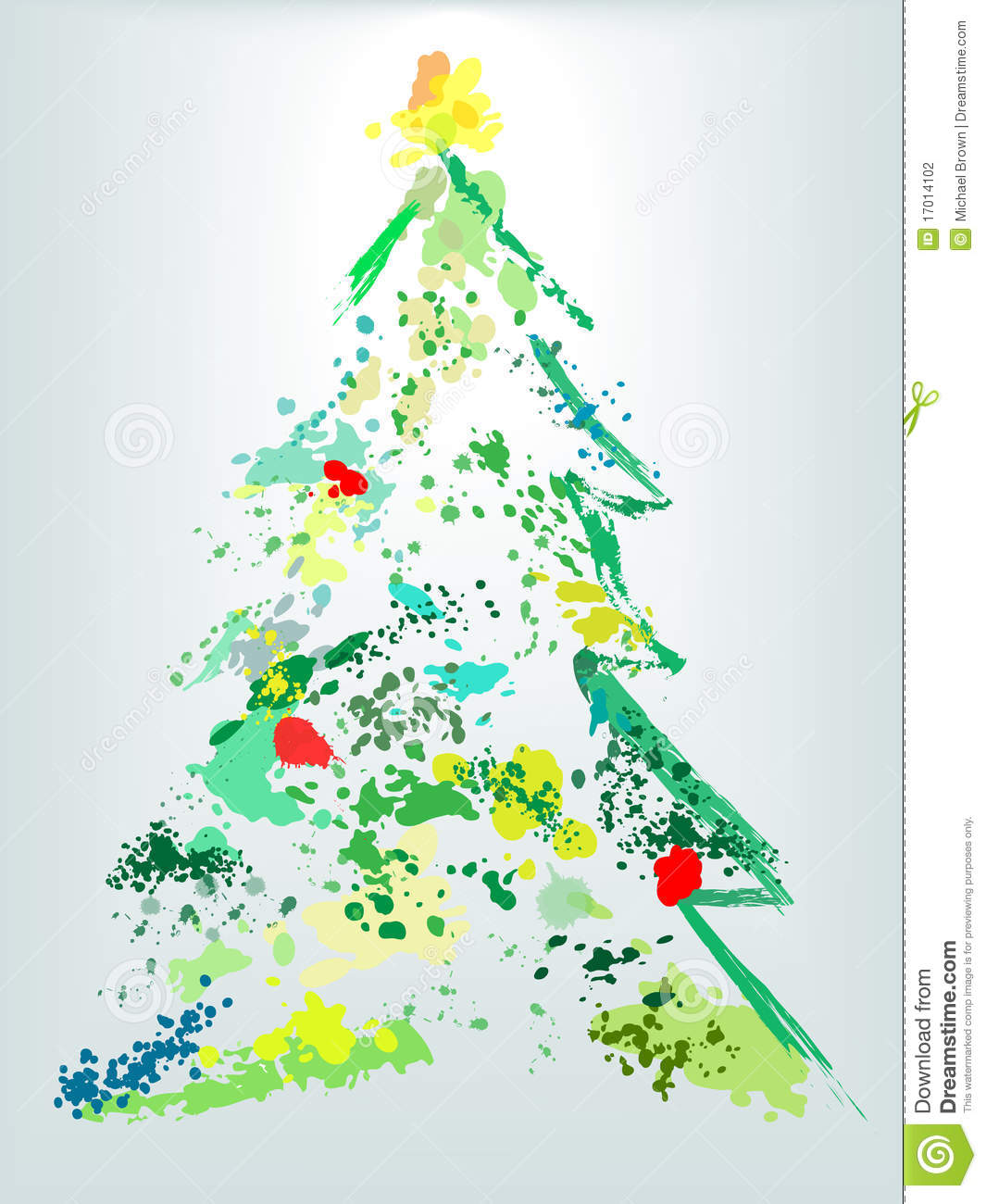 christmas tree holiday grunge paint splatter - How To Paint A Christmas Tree