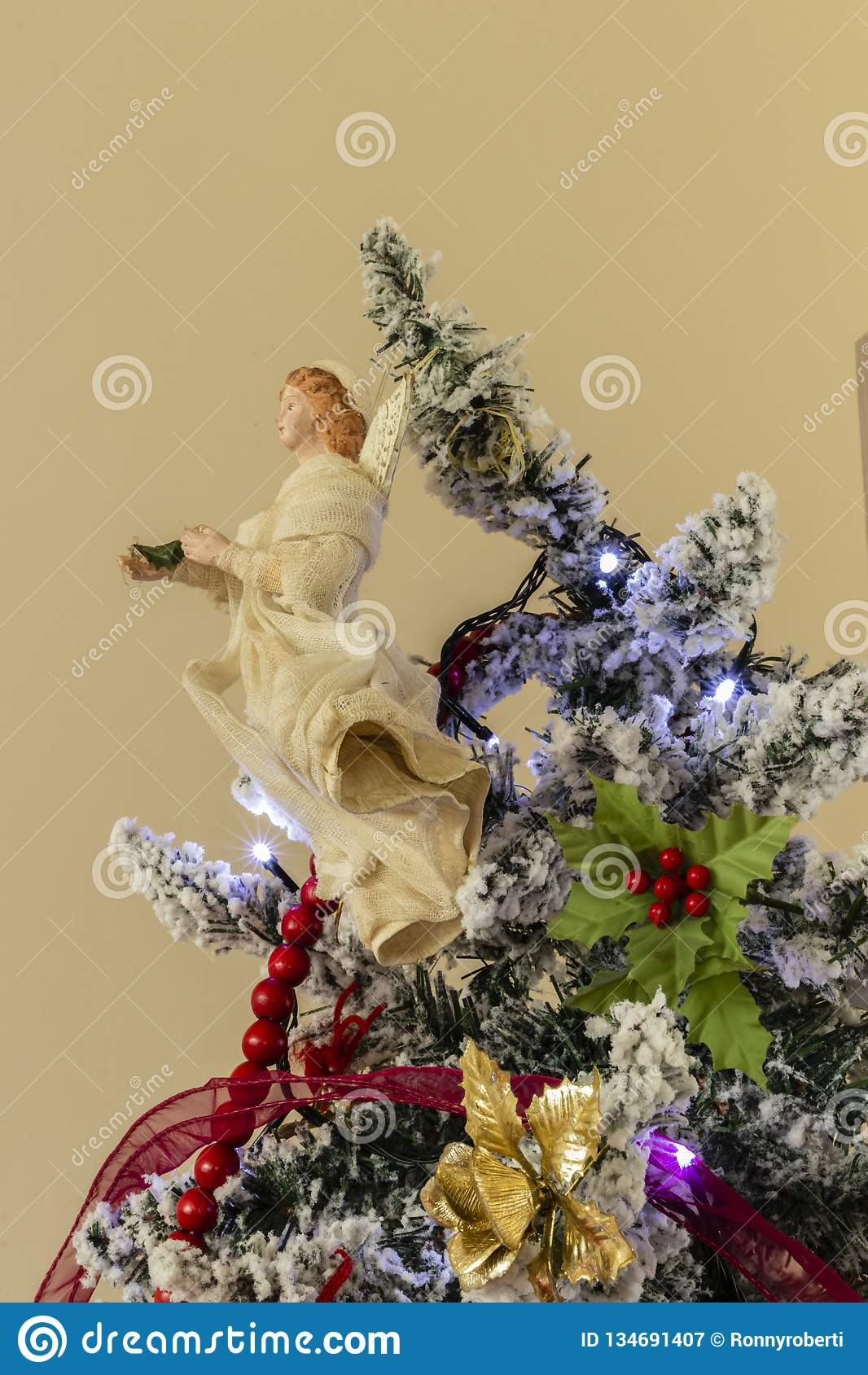 Christmas Tree In The House Stock Image Image of family