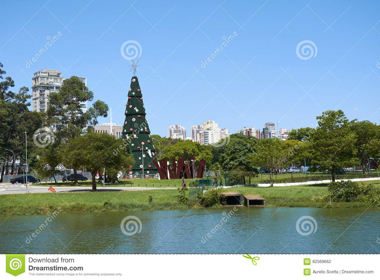 sao paulo brazil december 6 2016traditional christmas tree in ibirapuera being the 15th year of the attraction in the south zone of the city of sao - Christmas Traditions In Brazil