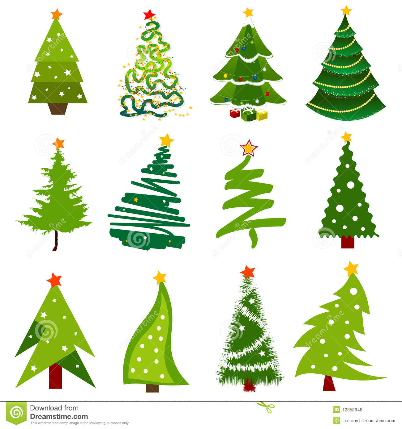 Christmas Tree Facebook Icon: Christmas Tree Icons Stock Vector. Image Of Plant