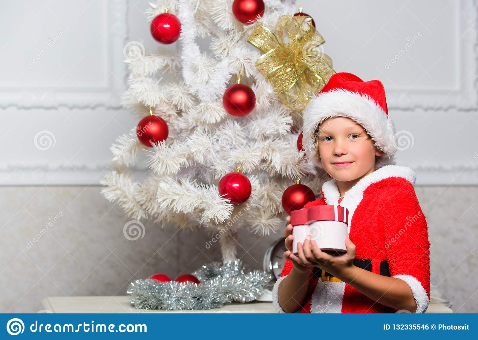 Christmas Gift Ideas For Kids Boys.Christmas Tree Ideas For Kids Boy Kid Dressed As Santa With