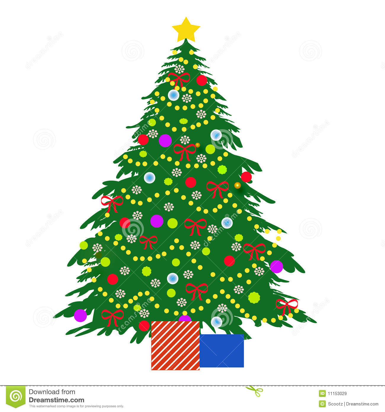 Christmas Tree Illustration Royalty Free Stock Images - Image ...