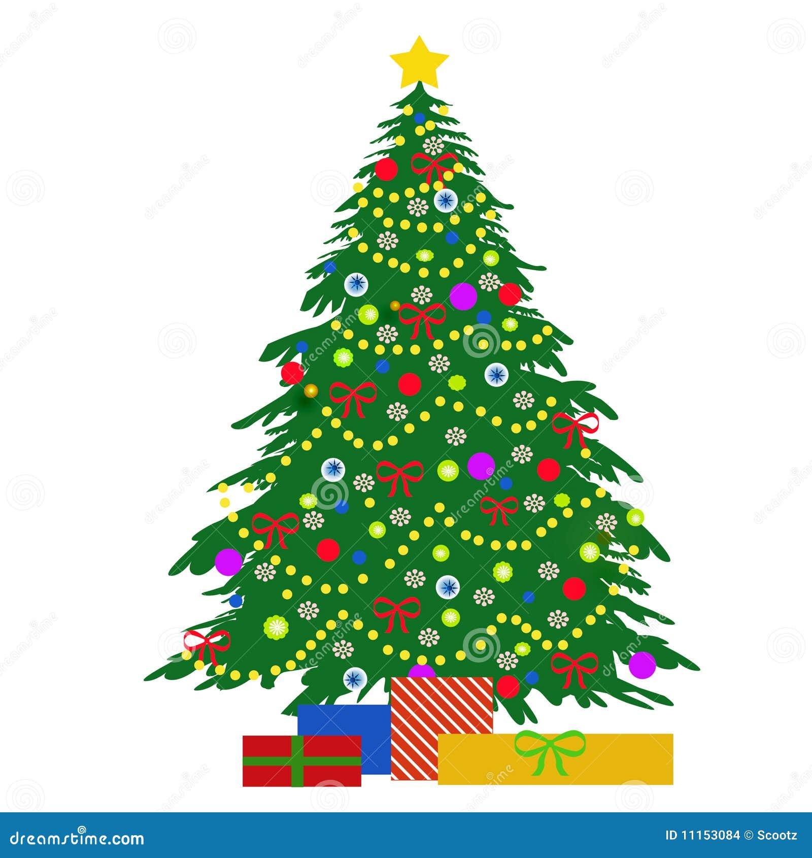 Christmas Tree Illustration Stock Images Image 11153084