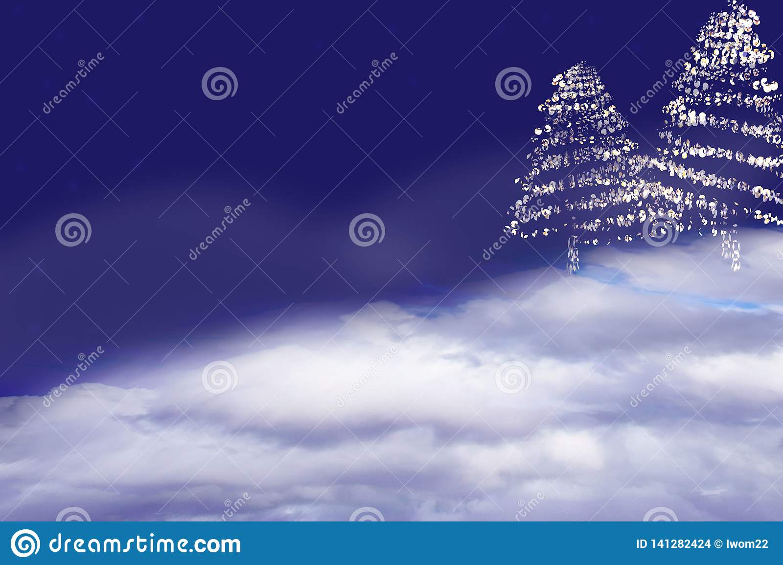 Christmas Tree. Abstract background.