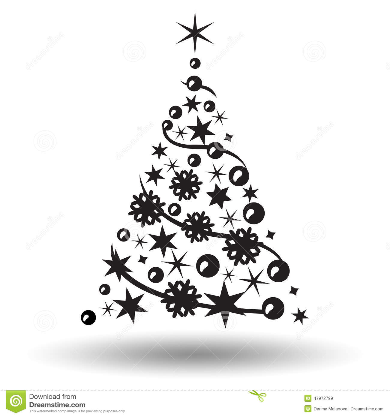 christmas tree isolated abstract design logo stock