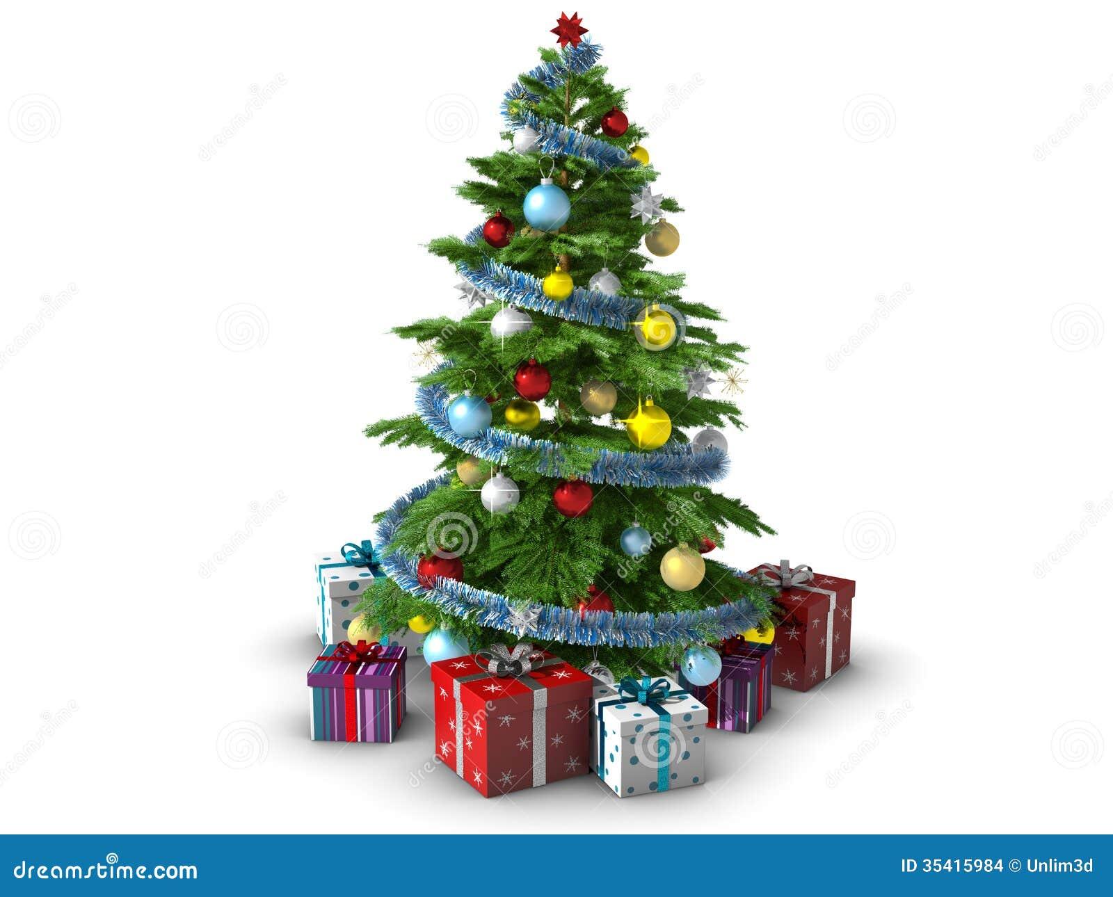 Christmas tree isolated on white background stock images image