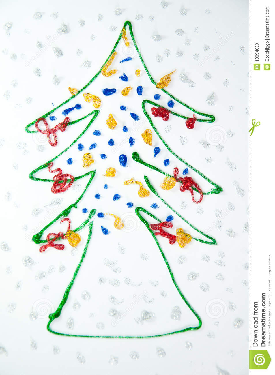 Christmas Tree Kids Draw