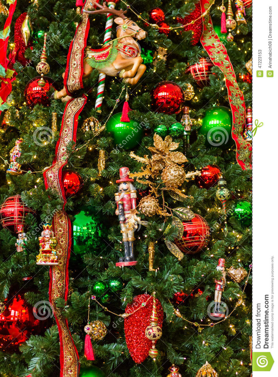Christmas Tree Stock Photo Image 47223153: large decorated christmas trees