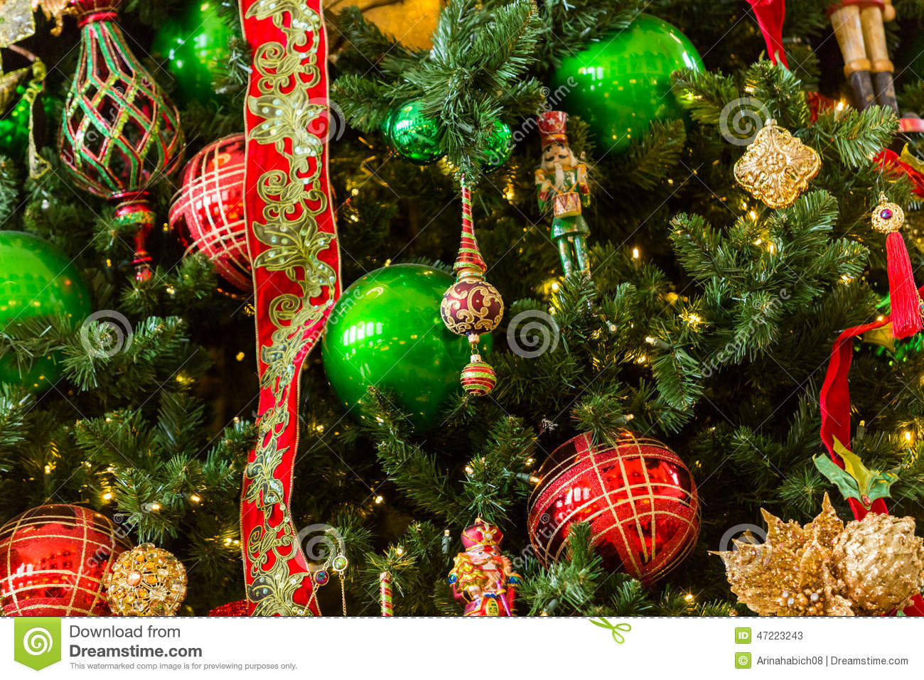 Christmas tree stock photo image 47223243 Large decorated christmas trees