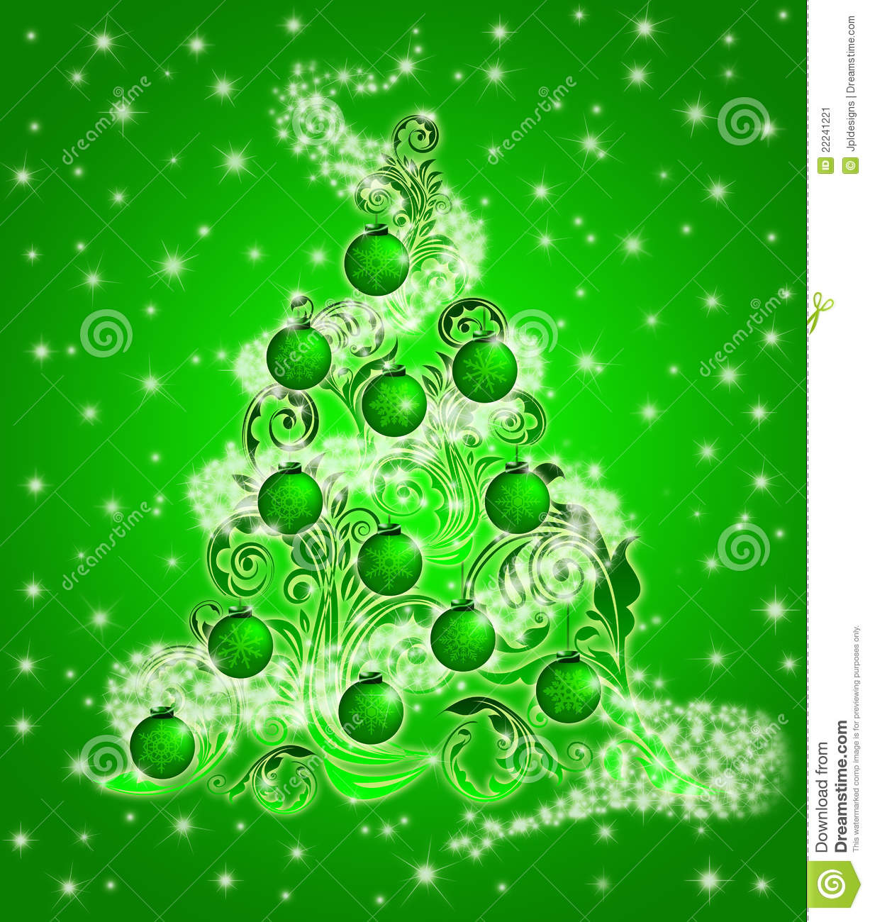 Ornamental christmas trees - Christmas Tree Leaf Swirls Sparkles And Ornaments