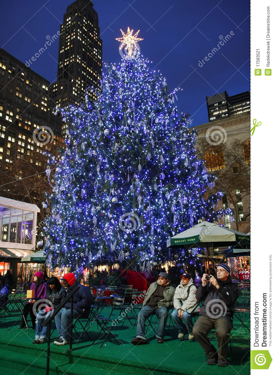 Christmas Tree Lighting Celebration At Bryant Park